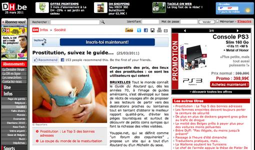 Promotion de la prostitution par la DH