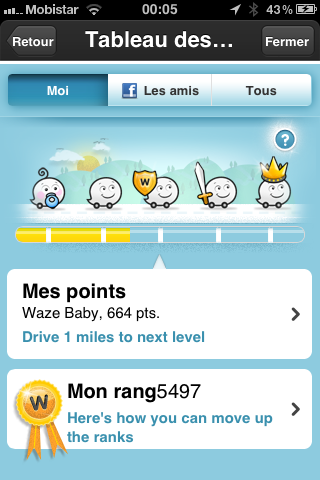 Waze - GPS gratuit sur iPhone